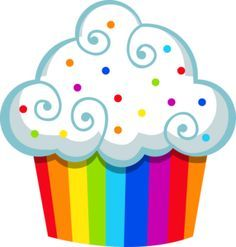 A rainbow cake is fun to look at and eat and a lot easier to make than you might think. Here's a step-by-step guide for how to make a rainbow birthday cake. Cupcake Pictures, Cupcake Images, Cupcake Drawing, Cupcake Art, Cupcake Clipart, Birthday Clipart, Rainbow Cupcakes, Cute Clipart, Rainbow Birthday