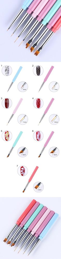 $2.49 1 Pc Liner Painting Pen UV Gel Flower Drawing Brush Candy Color Handle Manicure Nail Art Tool from bornprettystore.com