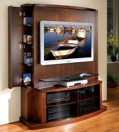 Flat Panel / Flat Screen TV Stand With Back Panel   Tango   JSP Furniture