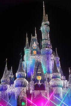 Cinderella Castle Christmas,  Magic Kingdom at the Walt Disney World Resort