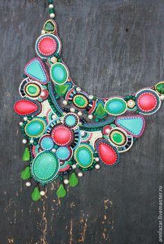 """Колье """"Paints of summer"""". Handmade."""