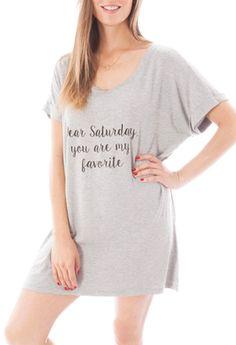 Pijamas : Blusón Dear Saturday