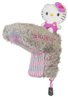 Pink/Grey Blade Putter Cover by Hello Kitty. Buy it @ ReadyGolf.com