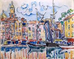 paul - Pictify - your social art network Paul Signac, Raoul Dufy, Social Art, Post Impressionism, Art Moderne, Watercolor Sketch, Paintings I Love, Urban Sketching, Art For Art Sake