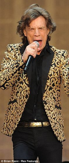 Legend: Frontman Sir Mick Jagger - who is just weeks away from his 70th birthday - treated thousands of fans to a particularly energetic set as the renowned rockers celebrated the end of their anniversary run   14 July 2013