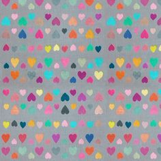 Little Happy Hearts - small version fabric by micklyn on Spoonflower - custom fabric