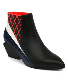 Jady Rose Black & Red Geometric Chelsea Boot | zulily
