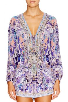 6775f7a482 Camilla Weave Of Humanity Lace Up Shirt find it and other fashion trends.  Online shopping for Camilla clothing.