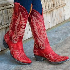 Womens Red Cowgirl Boots - Cr Boot