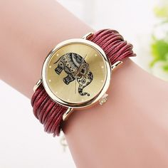 Style Fashion Elephant Watches Women Wristwatch Casual Quartz Watch