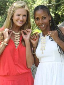 Nancy O'Dell & Holly Robinson Peete are twins in the Stella & Dot Kimberly Necklace.  If you want this look, shop here: www.stelladot.com/jenniferroeder