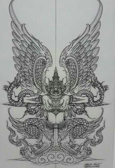 Best Ideas for tattoo elephant design tatoo Cambodian Tattoo, Khmer Tattoo, Cambodian Art, Tatuagem Sak Yant, Sak Yant Tattoo, Thailand Tattoo, Thailand Art, Body Art Tattoos, Sleeve Tattoos