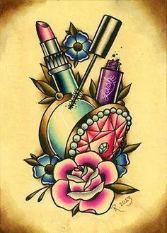 old school tattoo girly & old school tattoo _ old school tattoo traditional _ old school tattoo sleeve _ old school tattoo men _ old school tattoo designs _ old school tattoo black _ old school tattoo girly _ old school tattoo traditional black Girly Tattoos, Makeup Tattoos, Trendy Tattoos, Body Art Tattoos, Sleeve Tattoos, Tatoos, Lipstick Tattoos, Hand Tattoos, Dibujos Tattoo