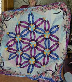 Judy Neirmeyer gave me courage to do this quilt using lots of pretty fabrics.
