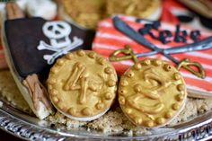 Boys Pirate Themed Birthday Party Cookie Food Ideas