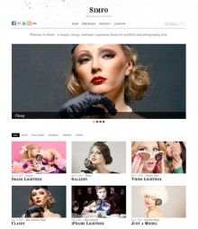 Simfo WordPress Theme is minimal style portfolio theme with responsive design, from Themify. Simfo theme will works great to create portfolio showcase website for artists, freelancers