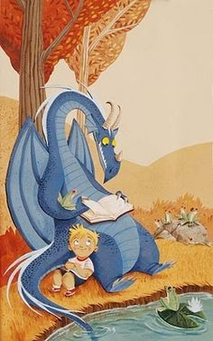 Mónica Armiño (Dragons aren't technically monsters but this one makes an exception on account of his cuteness)♥ Dragon Illustration, Children's Book Illustration, Illustration For Children, Fantasy Kunst, Fantasy Art, Arte Sketchbook, Cute Dragons, Dragon Art, Sword And Sorcery