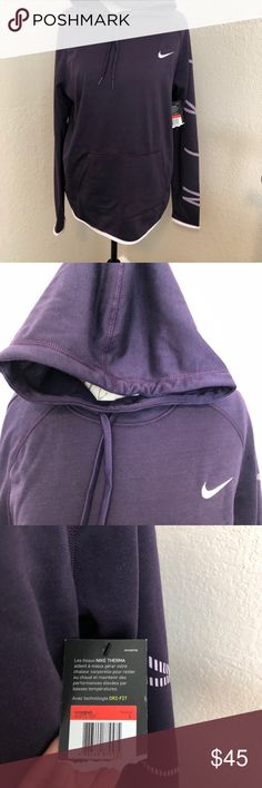 Nike therma hoodie Purple Nike hoodie. Size large Nike Sweaters