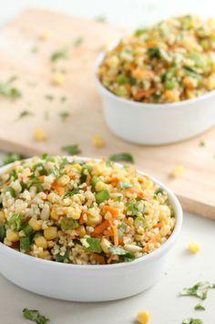 Curried Bulgar Wheat Salad with Carrots