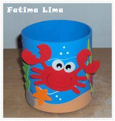Festinha do Arthur do fundo do mar! Painel e Porta Lapis ! Kids Crafts, Foam Crafts, Diy Home Crafts, Summer Crafts, Arts And Crafts, Paper Crafts, Ocean Party, Moana Party, Ideas Para Fiestas