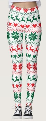These fair isle style Christmas leggings are great fun to wear this holiday season and they often go on sale.