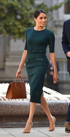 Looks de moda: el estilo de Meghan Markle - Mode - Fashion Looks, Beauty And Fashion, Royal Fashion, Feminine Fashion, Fashion Moda, Office Fashion, Work Fashion, Fashion Advice, Fall Fashion