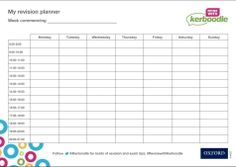 Kerboodle revision planner in colour Revision Planner, Exam Revision, Map, Colour, Writing, School, Color, Location Map, Maps