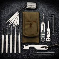 Sparrows Lock Picks manufacturers a full range of quality lock pick sets. We have a variety of lock pick sets all made with an extremely durable and flexible stainless steel. By consulting professionals in the community we have created what we believe is the very best in lock pick designs.