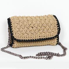 Handmade crochet flap bag Handmade Bags, Saddle Bags, Handbags, Leather, Closet, Purses, Handmade Purses, Armoire, Hand Bags