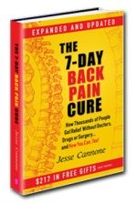 Six Big Myths About Back Pain Excerpted from The 7-Day Back Pain Cure by Jesse Cannone You've probably heard several of these myths spoken as fact