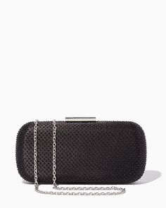 c245a4295061bc New Black Beaded Minaudiere Hard Frame Elongated Box Clutch Evening Purse