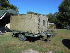 Military surplus field mobile kitchen trailer tent food concession ...