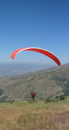Paragliding take off in Sierra Nevada - Las Alpuharras - South Spain