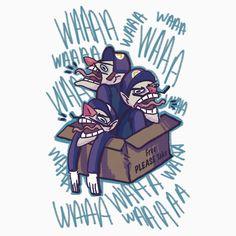 WAAAAAAAAA Waluigi from Super Mario now available as tshirts and more on redbubble