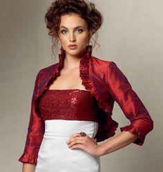 Vogue sewing pattern V8957 evening bolero/jackets for bridesmaids; same pattern for brides lace bolero