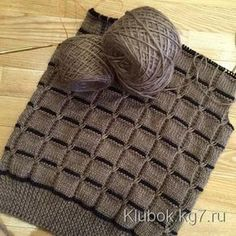 Baby Knitting Patterns Scarf Very beautiful knitting pattern - Squares Baby Knitting Patterns, Knitting Designs, Knitting Stitches, Knitting Projects, Stitch Patterns, Crochet Patterns, Knitted Baby Blankets, Knitted Hats, Knit Crochet