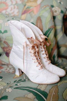 winter wedding booties ~ we ❤ this! moncheribridals.com