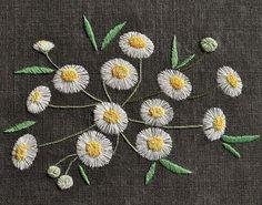 #야생화자수 #개망초 #꿈소 #꿈을짓는바느질공작소 #embroidery #annualfleabane