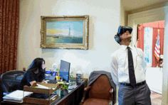 """15 Things Obama Was Actually Watching in VR  GIF        Last week,  we requested one to picture  what Barack Hussein Obama was really looking at while sporting a virtual reality headset.   The state explanation, posted in party of the Nationwide Park Service's 100th birthday, was that he was seeing a """"a virtual reality movie captured during his excursion to Yosemite National Park before this year.""""    But we needed something more creative than that, and, properly, we got it. (Fine jo.."""