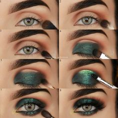 10 Natural Beauty Secrets of French Women Beauty Make UP Blue Eye Makeup Beauty French Natural Secrets women Green Eyeshadow Look, Makeup For Green Eyes, Eyeshadow Makeup, Makeup Brushes, Green Smokey Eye, Makeup Remover, Makeup With Green Dress, Daytime Smokey Eye, Green Eyes Pop