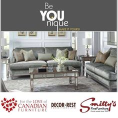 For the LOVE of Canadian Furniture Decor-Rest Furniture offers you options to create a room that is truly unique. You can create an environment that reflects who you are. Fine Furniture, Furniture Decor, Environment, Rest, Couch, Unique, Home Decor, Homemade Home Decor, Sofa
