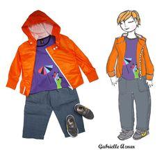 Silhouette Jus d'orange et sirop de violette
