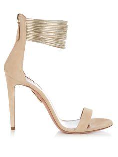 f1de8d115432 AQUAZZURA Spin Me Around suede sandals.  aquazzura  shoes  sandals
