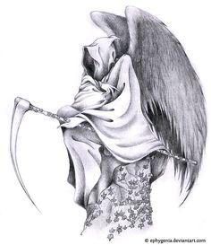 Grim reaper tattoo design