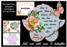 CUP882474_906 - This is a really beautiful mini kit that is really easy to make, and anyone would love to receive it. It is a 3D decoupage...