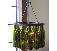 chandelier wine bottles