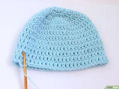 Immagine titolata Crochet a Baby Hat Step 19 Crochet Stitches For Blankets, Tunisian Crochet Patterns, Crochet Socks Pattern, Baby Knitting Patterns, Crochet Bear Hat, Bonnet Crochet, Crochet Baby Toys, Crochet Unique, Popular Crochet