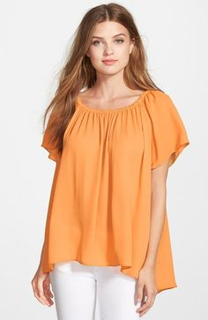 2419cebae30 Vince Camuto Off-Shoulder High Low Blouse (Regular   Petite) available at   Nordstrom