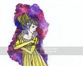 "$14: 8x11 ""1805 Regalia"" Historic Fashion Illustration Print by EveningStarArt on Etsy"