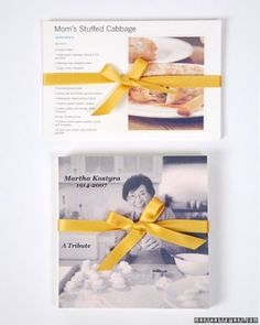 """Nice idea to hand down family recipes. See the """"Family Recipe DVDs"""" in our Organize Your Family Recipes gallery"""